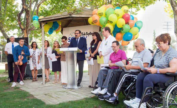 Acto conmemorartivo del Día Internacional de la Lesión Medular en el Hospital Nacional de Parapléjicos (Foto: Carlos Monroy//JCCM)