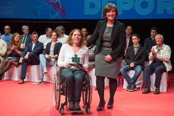 Gala del Deporte de la Diputación de Toledo. Premio a Esther Torres (Foto: Carlos Monroy)