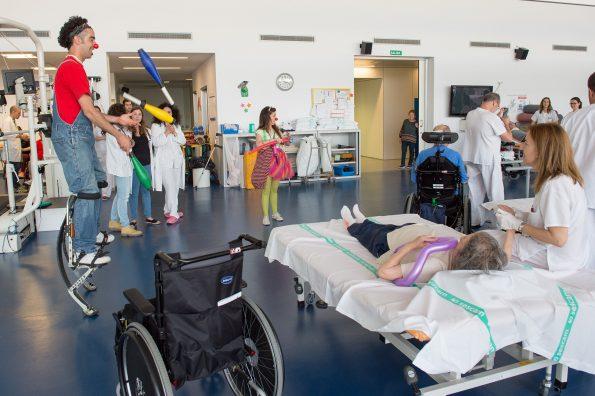 Pasacalle en el Hospital Nacional de Parapléjicos con motivo de la Semana del Libro (Foto: Carlos Monroy)