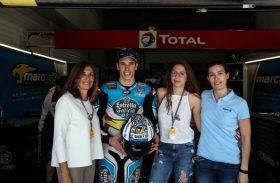 Alex Márquez lucirá un casco solidario con la Fundación del Hospital de Parapléjicos durante el Gran Premio de Jerez