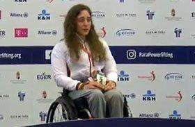 Loida Zabala vencedora en la Copa del Mundo de Halterofilia Paralímpica