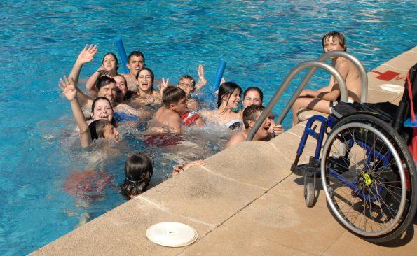 En la piscina (Foto: Carlos Monroy)