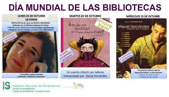 Cartel Día Mundial Bibliotecas