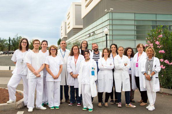 Grupo de profesionales de los Servicios de Apoyo a la Investigación del Hospital Nacional de Parapléjicos (Foto: Carlos Monroy//SESCAM)
