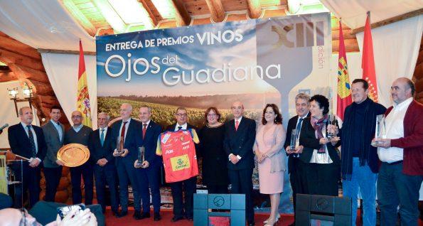 Premio Ojos del Guadiana. Foto de grupo.