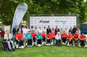 Gran éxito de la presentación nacional del fútbol en silla de ruedas en el HNP