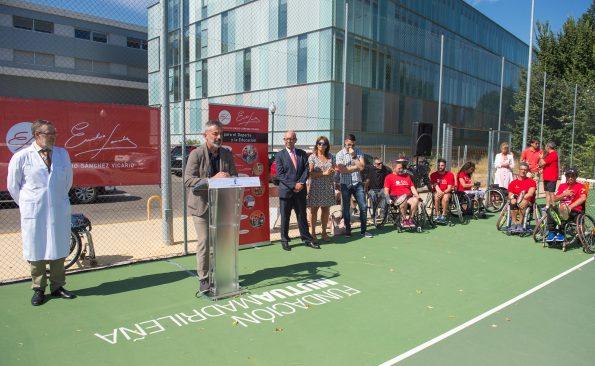 Balance de la escuela de tenis en el Hospital Nacional de Parapléjicos. Foto: Carlos Monroy