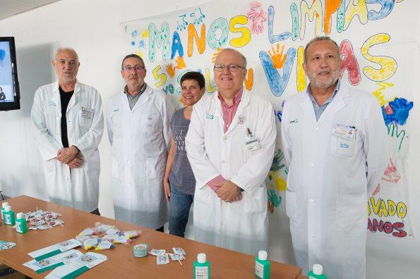 Día de la Higiene de Manos en el Hospital Nacional de Parapléjicos. (Foto Carlos Monroy \ SESCAM)