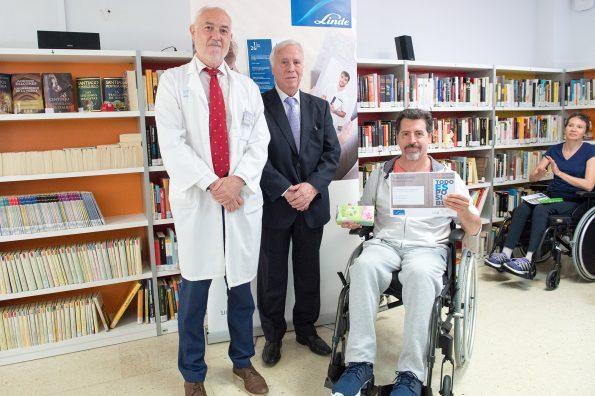 """Tercer premio. Entrega de premios del concurso literario """"Todo es posible"""" en el Hospital Nacional de Parapléjicos"""