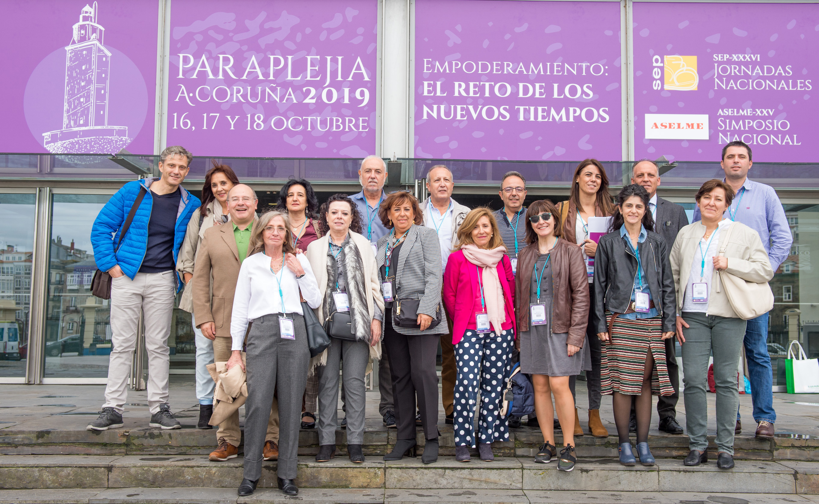 Grupo de profesionales del HNP en el Congreso Paraplejia 2019 en A Coruña