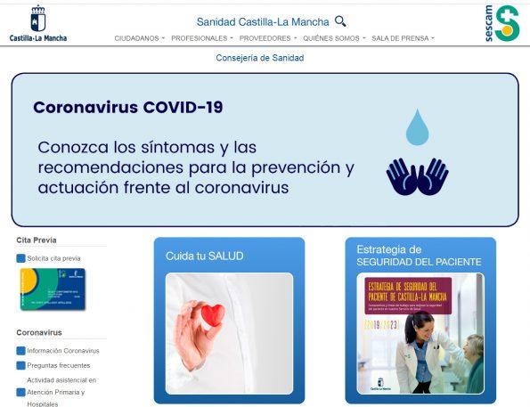 Web Sanidad CLM