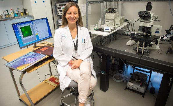 Juliana Martíns Rosa. Investigadora del Hospital Nacional de Parapléjicos. Foto.Carlos Monroy // SESCAM