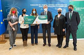Fundación Eurocaja Rural entrega una de sus 'Ayudas Sociales' al proyecto de investigación de Laura Mouriño, investigadora del Hospital Nacional de Parapléjicos