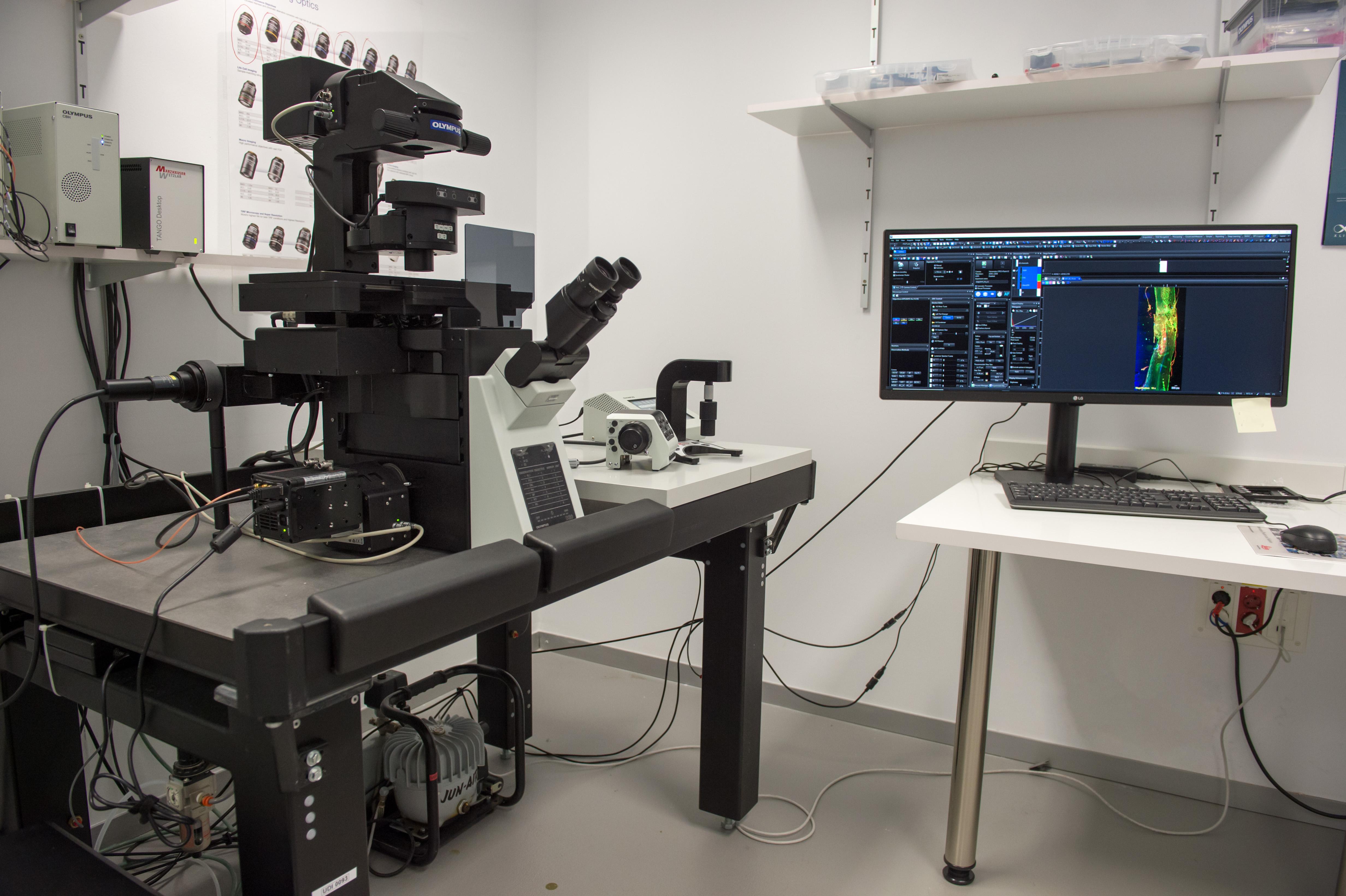 Microscopio invertido OlympusIX83 modular motorizado