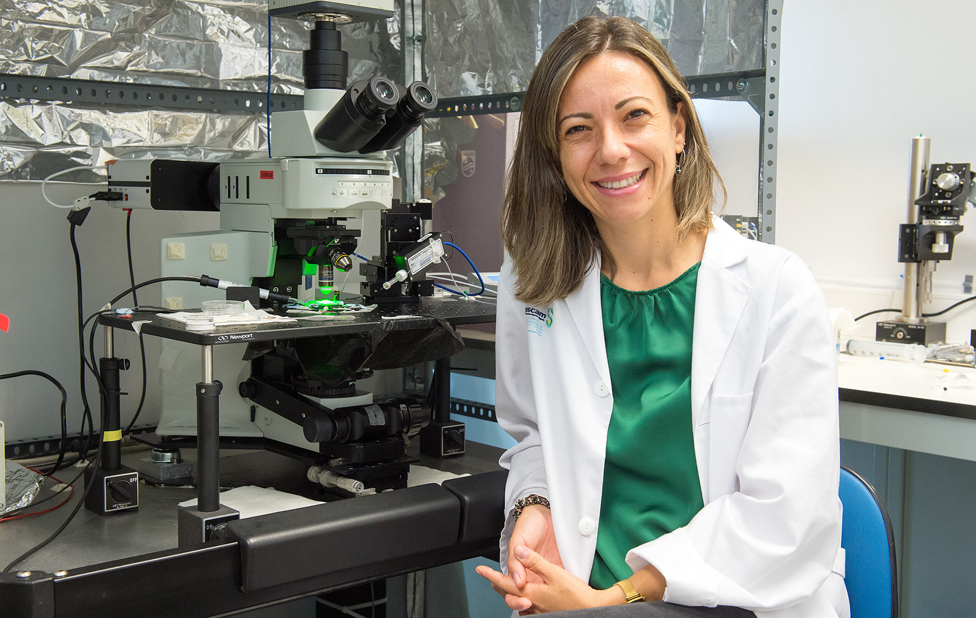 Juliana M. Rosa, lidera la línea de investigación sobre Reparación de los Circuitos Neuronales del Hospital Nacional de Parapléjicos (Foto: Carlos Monroy // SESCAM)