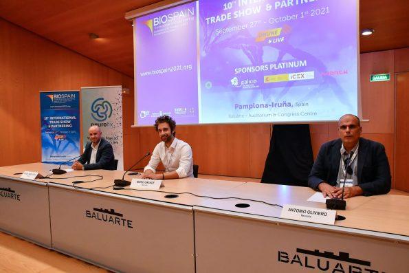 Miguel Ángel Ávila, General Manager de Neurofix; Mario Grande Abascal, Chief Executive Officer (CEO) en Neurofix; Dr. Antonio Oliviero, Neurólogo Clínico y Jefe de Grupo de Investigación (FENNSI Group)